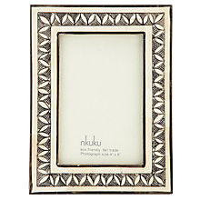 Buy Nkuku Leela Bone Photo Frame, 4 x 6 (10 x 15cm) Online at johnlewis.com