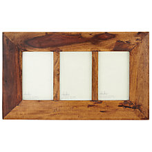 "Buy Nkuku Sheesham Wood Multi-aperture Photo Frame, 3 Photo, 4 x 6"" (10 x 15cm) Online at johnlewis.com"