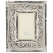 "Buy Nkuku Apana Carved Photo Frame, Grey, 4 x 6"" (10 x 15cm) Online at johnlewis.com"