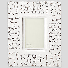 "Buy Nkuku Aster Carved Photo Frame, White, 4 x 6"" (10 x 15cm) Online at johnlewis.com"