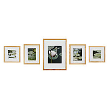 Buy Nielsen Gallery Perfect Multi-aperture Piece Frame, Natural, 5 Photo Online at johnlewis.com