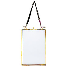 "Buy Nkuku Kiko Glass Portrait Photo Frame, Brass, 4 x 6"" (10 x 15cm) Online at johnlewis.com"