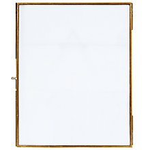 "Buy Nkuku Danta Photo Frame, Antique Brass, 8 x 10"" (20 x 25cm) Online at johnlewis.com"