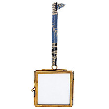 "Buy Nkuku Kiko Glass Photo Frame, Brass, 2 x 2"" (5 x 5cm) Online at johnlewis.com"