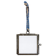 "Buy Nkuku Kiko Glass Portrait Photo Frame, Zinc, 2 x 2"" (5 x 5cm) Online at johnlewis.com"