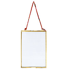 Buy Nkuku Kiko Glass Portrait Photo Frame, Brass, 5 x 7 (13 x 18cm) Online at johnlewis.com