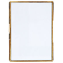 "Buy Nkuku Danta Photo Frame, Antique Brass, 5 x 7"" (13 x 18cm) Online at johnlewis.com"