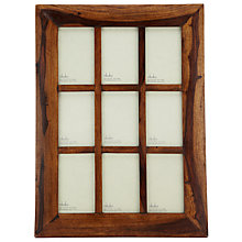 "Buy Nkuku Sheesham Wood Multi-aperture Photo Frame, 9 Photo, 4 x 6"" (10 x 15cm) Online at johnlewis.com"