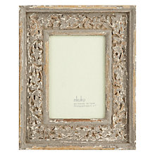 "Buy Nkuku Multi-aperture Apana Carved Photo Frame, Grey, 16 Photo, 4 x 4"" (10 x 10cm) Online at johnlewis.com"