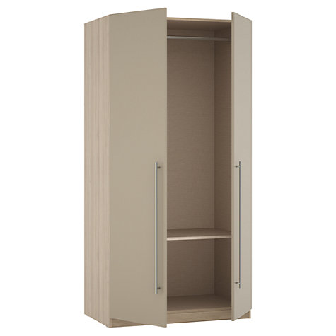 Buy House by John Lewis Mixit T-bar Handle Double Wardrobe, Matt Stone/Grey Ash Online at johnlewis.com