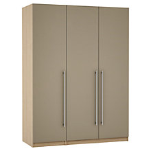Buy John Lewis Mixit Matt T-bar Handles Triple Wardrobe, Stone/Washed Oak Online at johnlewis.com