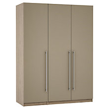 Buy House by John Lewis Mix it T-bar Handle Triple Wardrobe, Matt House Mocha/Grey Ash Online at johnlewis.com