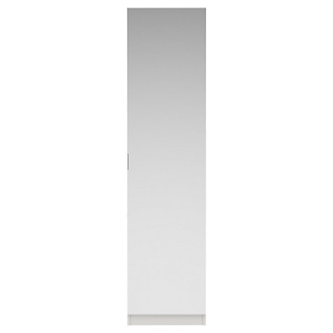 Buy House by John Lewis Mix it T-bar Handle Single Wardrobe, Gloss Grey/White Online at johnlewis.com