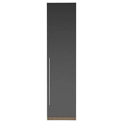 Buy House by John Lewis Mix it T-bar Handle Single Wardrobe, Gloss House Steel/Grey Ash Online at johnlewis.com