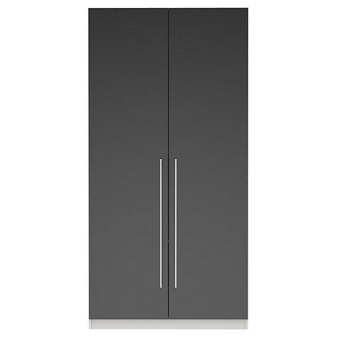 Buy House by John Lewis Mix it T-bar Handle Double Wardrobe, Gloss Grey Online at johnlewis.com