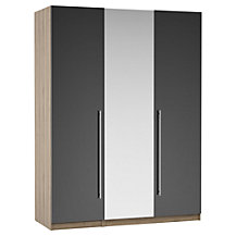House by John Lewis Mixit T-bar Bedroom Range, Gloss Grey/Grey Ash