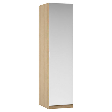 Buy House by John Lewis Mixit Mirrored Single Wardrobe, Natural Oak Online at johnlewis.com