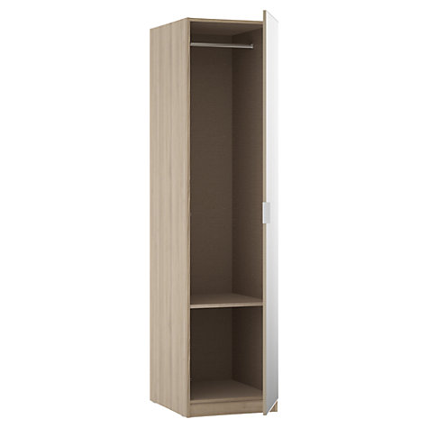 Buy John Lewis Mixit Mirrored Single Wardrobe, Grey Ash Online at johnlewis.com