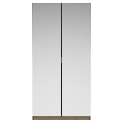 Buy John Lewis Mixit Mirrored Double Wardrobe, Grey Ash Online at johnlewis.com