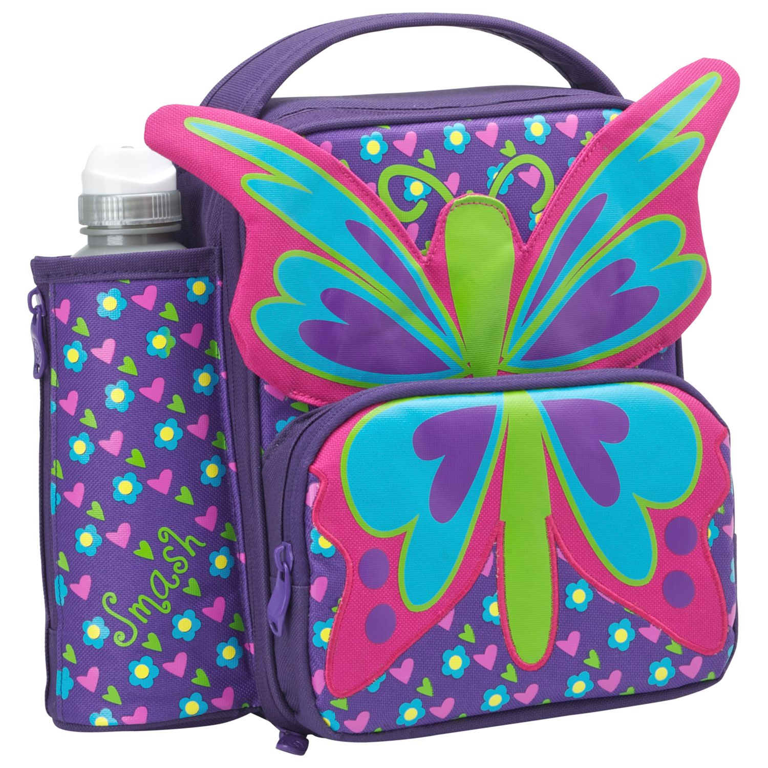 Smash Quirkz Butterfly Lunch Bag, Pink