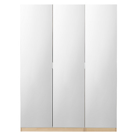 Buy House by John Lewis Mixit Mirrored Triple Wardrobe, Natural Oak Online at johnlewis.com