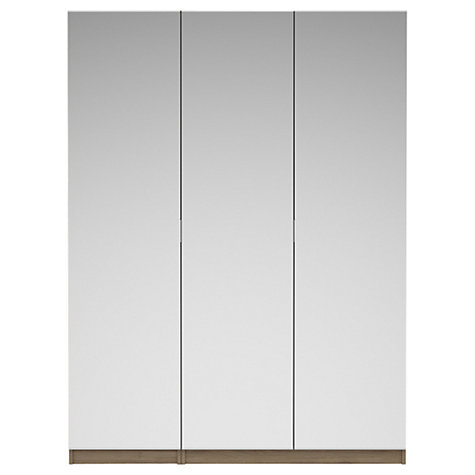 Buy House by John Lewis Mix it Mirrored Triple Wardrobe, Grey Ash Online at johnlewis.com