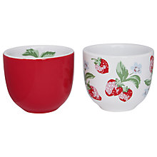 Buy Cath Kidston Strawberry Egg Cups, Set of 2 Online at johnlewis.com