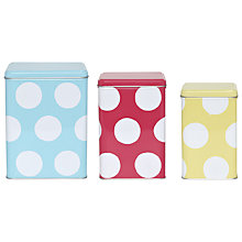 Buy Cath Kidston Big Spot Storage Tins, Set of 3 Online at johnlewis.com