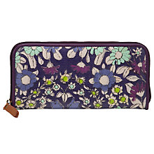 Buy John Lewis Daisychain Print Zip Purse, Magenta Online at johnlewis.com