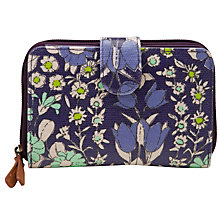 Buy John Lewis Daisychain Print Flap Over Purse, Magenta Online at johnlewis.com