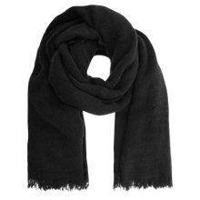 Buy Mint Velvet Textured Scarf, Black Online at johnlewis.com