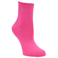 Buy Calvin Klein Soft Touch Crystal Logo Ankle Sock, Poppy Online at johnlewis.com