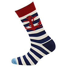 Buy Joules Brilliant Bamboo Striped Socks, Blue Online at johnlewis.com