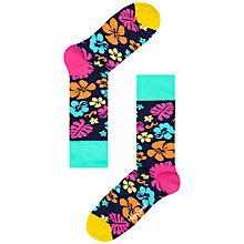 Buy Happy Socks Hawaiian Floral Ankle Socks Online at johnlewis.com