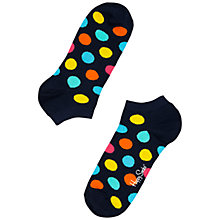 Buy Happy Socks Spot Low Trainer Socks, Navy/Multi Online at johnlewis.com
