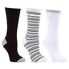 Buy Calvin Klein 3 Pack Roll Top Ankle Socks Online at johnlewis.com