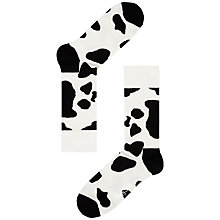 Buy Happy Socks Cow Ankle Socks, Black/White Online at johnlewis.com