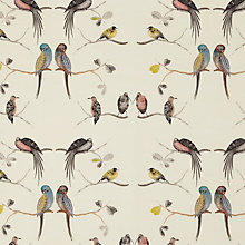 Buy Lousie Body Perched Birds Furnishing Fabric, Multi Online at johnlewis.com