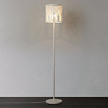 Buy John Lewis Devon Floor Lamp, White, Large Online at johnlewis.com