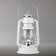 Buy John Lewis Vermont Outdoor LED Lantern, Large, White Online at johnlewis.com