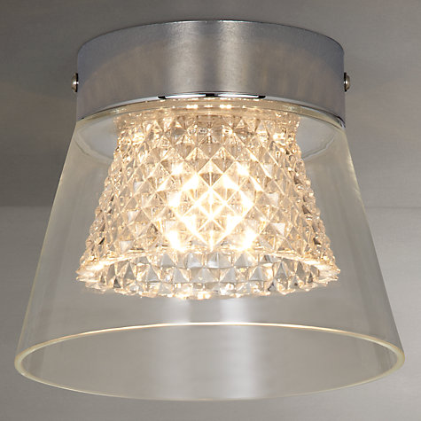 Buy i4DZINE Horatio Cut Crystal Bathroom Flush Light Online at johnlewis.com