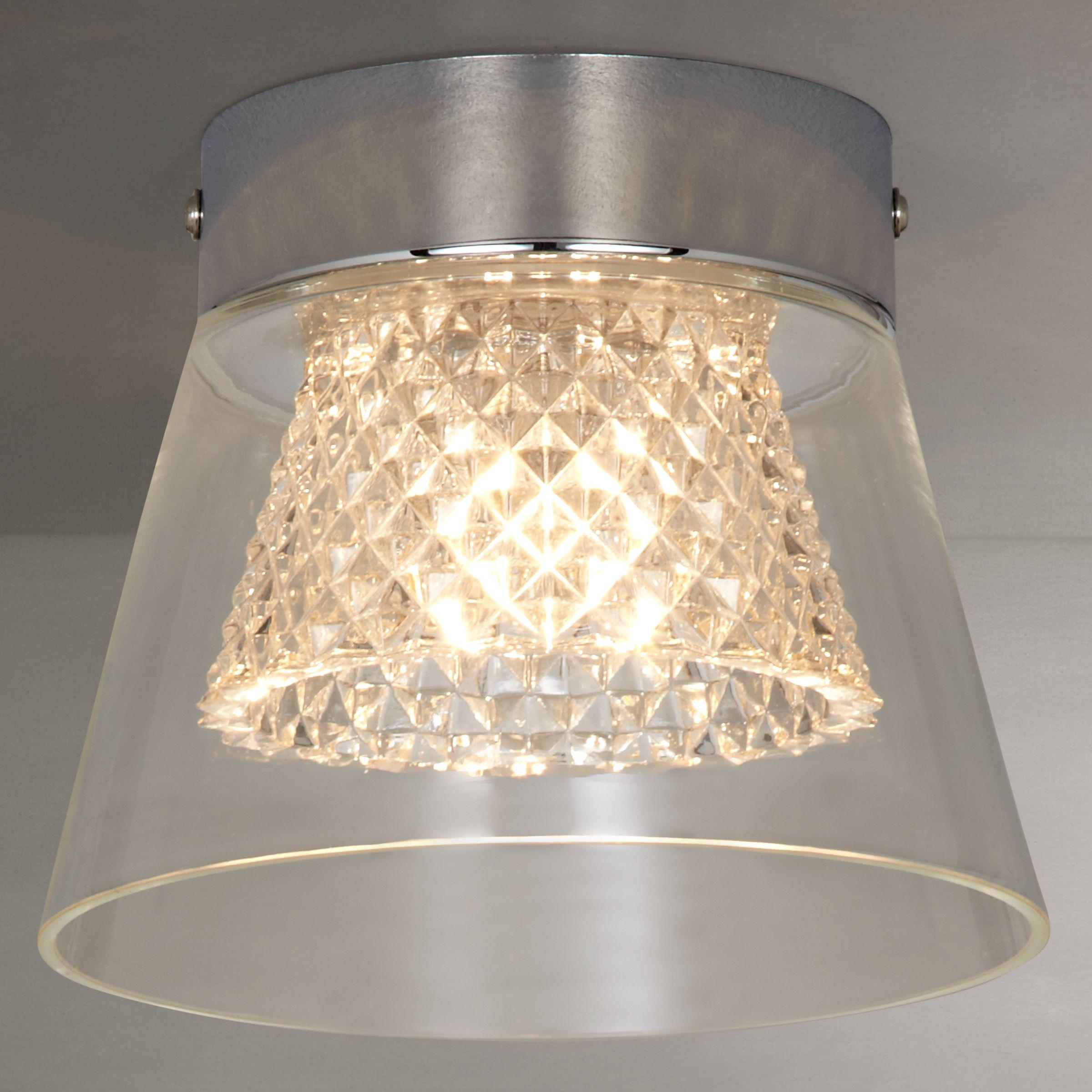 i4DZINE i4DZINE Horatio Cut Crystal Bathroom Flush Light