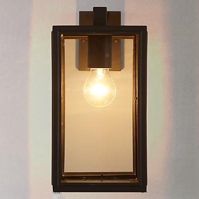 John Lewis Louvre Outdoor Glass Lantern, Coffee