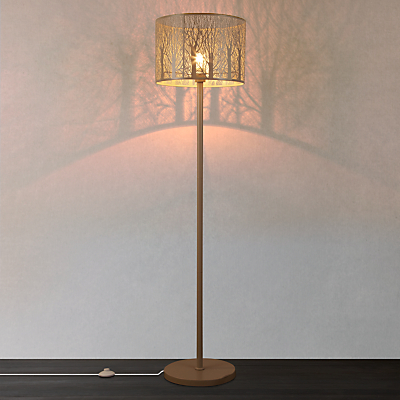 John Lewis Devon Large Floor Lamp, Taupe