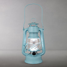 Buy John Lewis Vermont LED Lantern, Medium, Blue Online at johnlewis.com