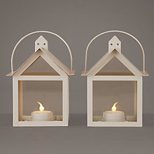 Buy Sirius Aura Outdoor Lantern, Set of 2, Small, Cream Online at johnlewis.com