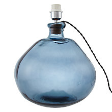 Buy John Lewis Ottowa Recycled Lamp Base, Blue Online at johnlewis.com