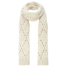 Buy Jigsaw Bitta Scarf, Cream Online at johnlewis.com