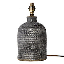 Buy John Lewis Croft Collection Rowan Fishing Net Jar Lampbase, Small, Grey Online at johnlewis.com