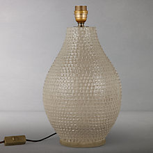 Buy John Lewis Croft Collection Rowan Fishingnet Jar Lamp Base, Taupe, Large Online at johnlewis.com